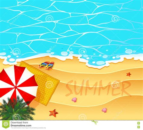 summer themes summer theme with ocean and beach background stock vector