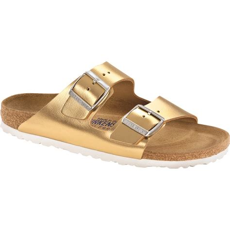 birkenstock bed birkenstock arizona soft bed narrow metallic sandal
