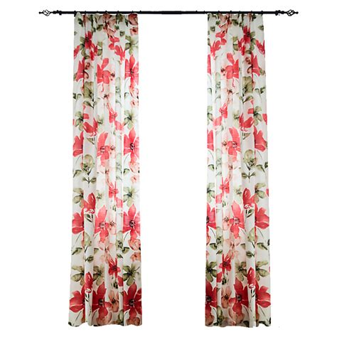girls floral curtains red and white floral beautiful curtains for girls