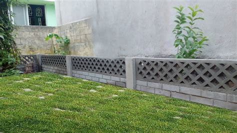 diy concrete garden wall