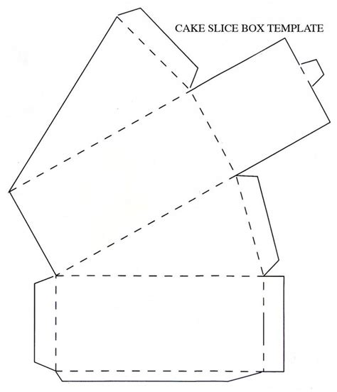 templates for decorative boxes how to make a piece of cake out of cardboard decorative