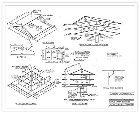 plans for purple martin house martin bird house plans woodwork