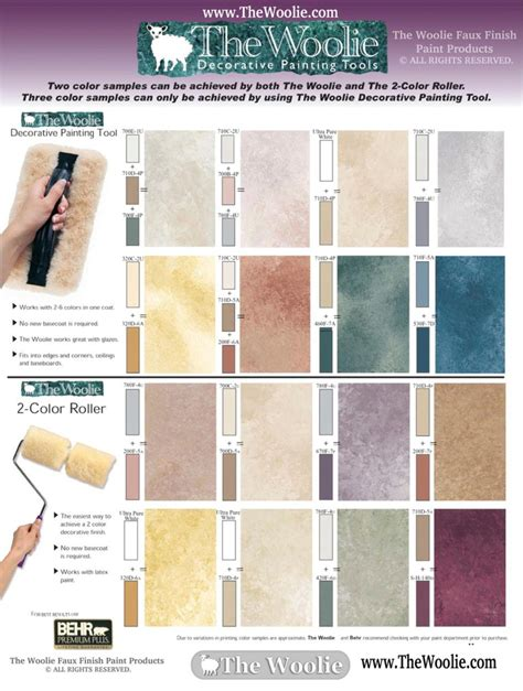 home depot faux finish color sle combinations by the woolie