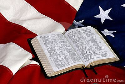 open bible  american flag royalty  stock photography