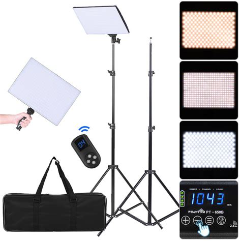 Led Bi Color Studio Light Phantom Pt 680b phantom pt 650b silm bi color led panel light l kit