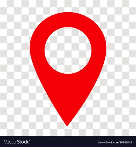 image locations location pin icon on transparent location pin vector image