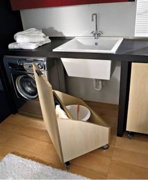 roll out laundry sink roll out cabinet in laundry room home org