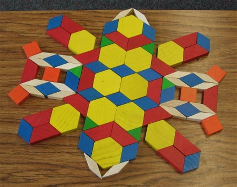 shape using pattern blocks pattern block symmetry math symmetry activities