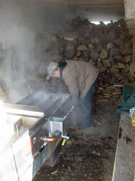 backyard maple syrup evaporator lessons in backyard maple sugarin transitional traditions grit magazine