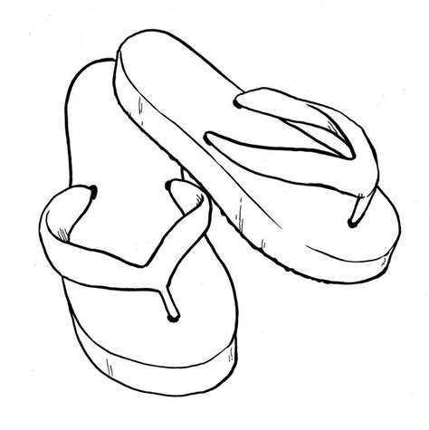 Flip Flops Coloring Page Coloring Home Flip Flop Coloring Page