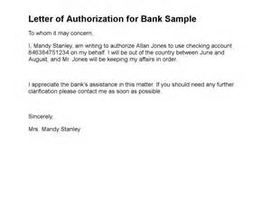 Authorization Letter For Bank Atm Pin pin authorization letter for bank account bank authorization on