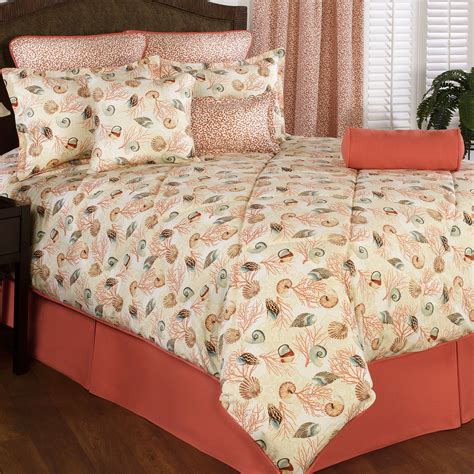 seashell bedding caicos coastal seashell comforter bedding