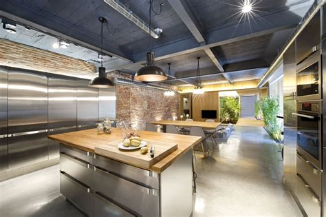 Kitchen Island With Seating Area Industrial Style Kitchen Design Ideas Marvelous Images