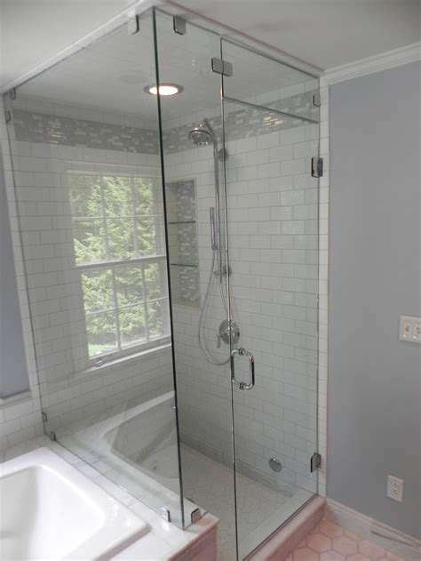 shower doors over bathtub glass shower enclosures bathroom renovations