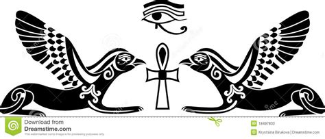 egyptian horus stencil stock photos image 18497833