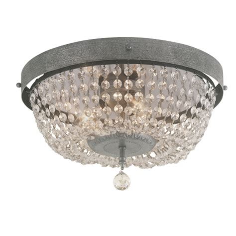 starburst flush mount light fixture flush mount crystal and polished nickel starburst light