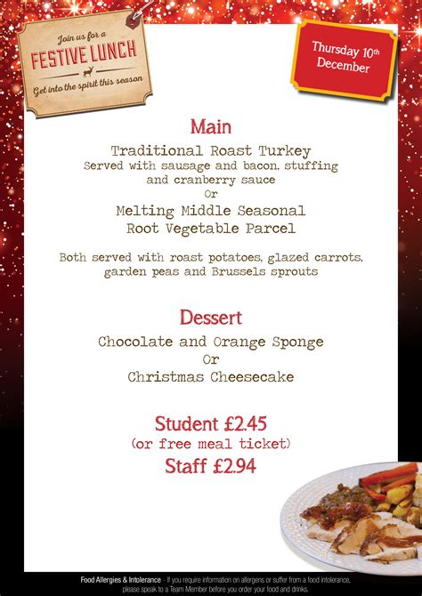 all saints church of england school christmas lunch menu