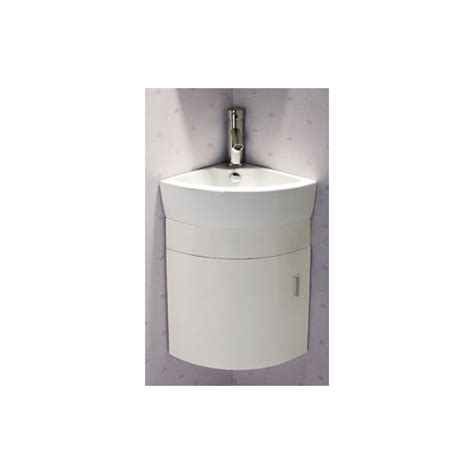 16 quot single melamine wall hung corner bathroom vanity set