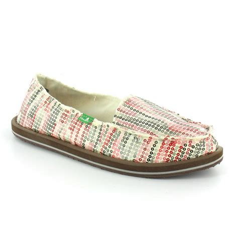 sanuks for sanuk sanuk lime light womens striped