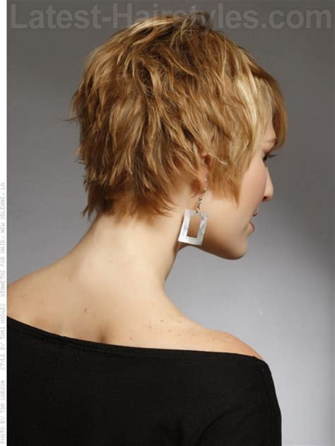 back view of short shag hairstyles short haircuts front and back view
