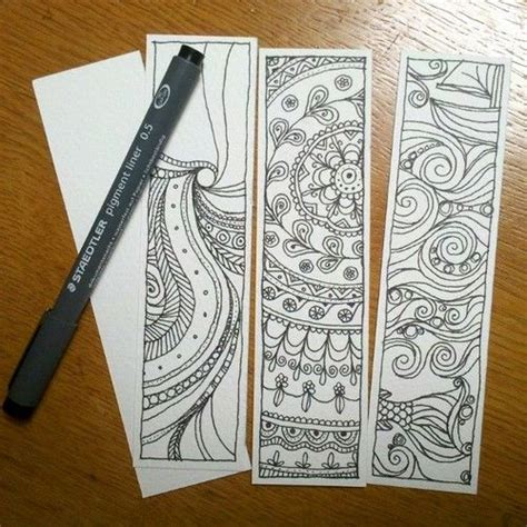 printable doodle bookmarks doodle mandala zentangle bookmarks by hollymayb book
