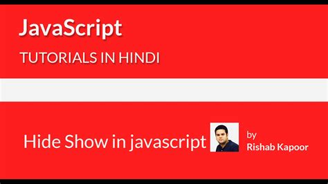 javascript tutorial hindi javascript tutorials for beginners in hindi 25 hide