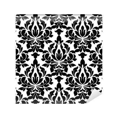 strumming pattern til kingdom come black colored floral arabesque seamless pattern wall mural
