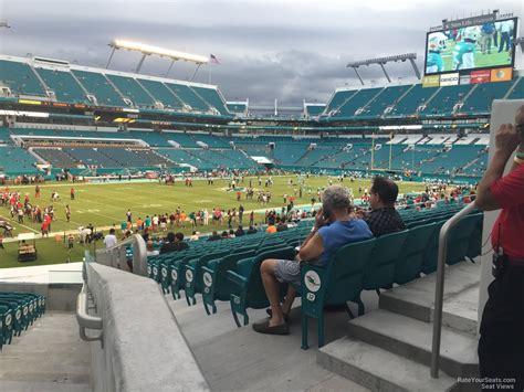 miami dolphins seat view rock stadium section 122 miami dolphins