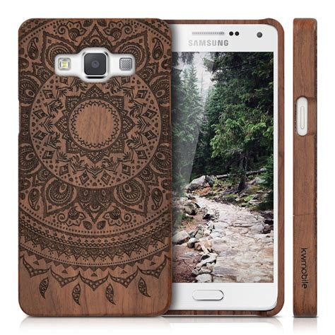 kwmobile wood cover for samsung galaxy a5 2015 back mobile ebay