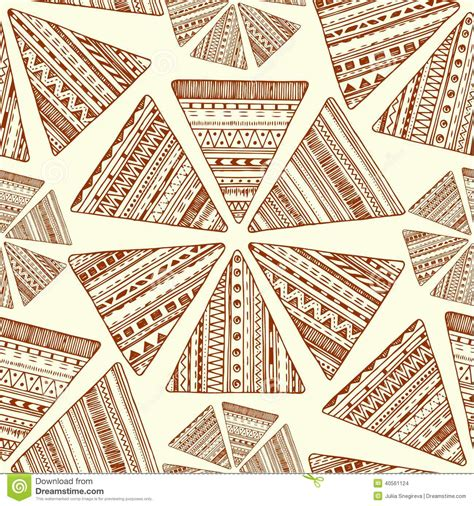 triangle pattern tribal seamless ethnic pattern vector tribal background stock