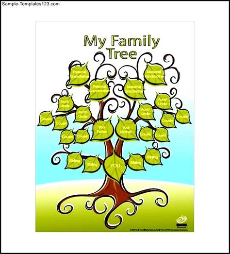 template for family tree free family tree free pdf template sle templates