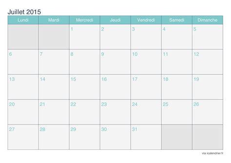 Calendrier à Imprimer Juillet 2015 Calendrier Juillet 2015 224 Imprimer Icalendrier Fr