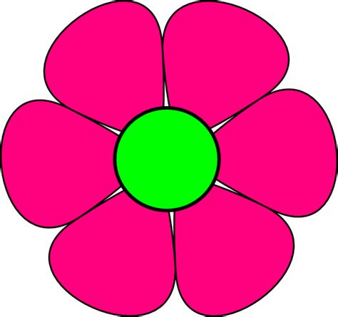 free flower clipart pink flower 3 clip at clker vector clip