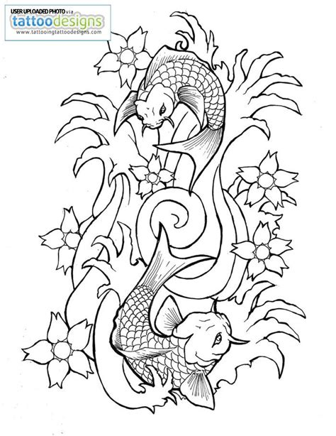 Outlines Designs by Fish Drawing Outline Cliparts Co