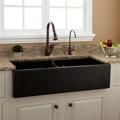 fireclay kitchen sink 39 quot risinger bowl fireclay farmhouse sink black