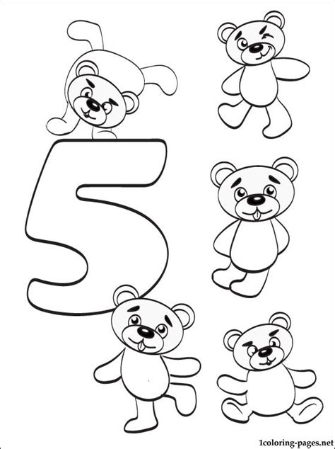 Number 5 Coloring Pages For Toddlers by Number 5 Five Coloring Page Coloring Pages