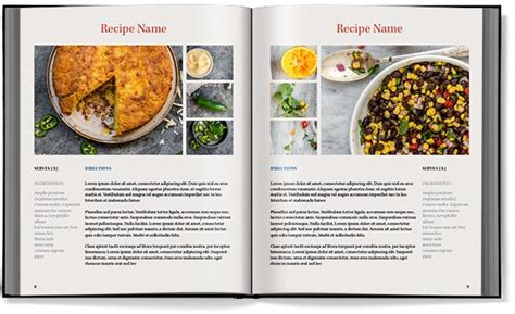 Cookbook Templates Word Excel Sles Powerpoint Recipe Template