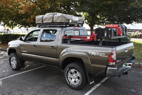 toyota tacoma bed tent bed rack for roof top tent santa cruz ca tacoma world