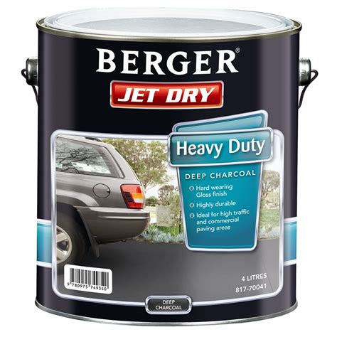 berger jet 4l heavy duty charcoal paving paint bunnings warehouse