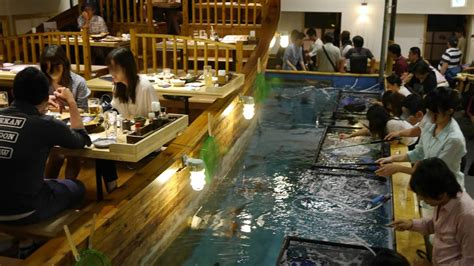 the fish boat nyc literally fish for your dinner at this japanese chain