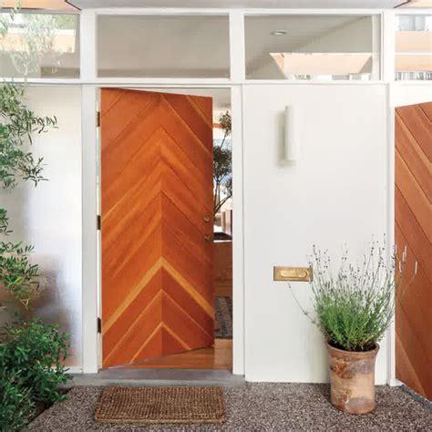 50 modern front door designs chevron wooden front door