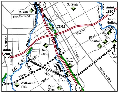 san jose trails map map index