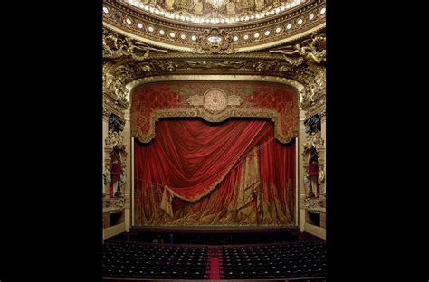 opera curtains curtain palais garnier paris france 2009 a soprano s