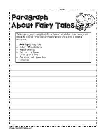 Writing A Paragraph Worksheet by How To Write A Paragraph Worksheets Mmosguides