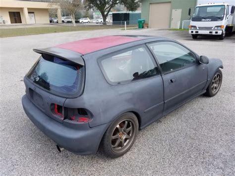 Honda Civic Si Hatchback For Sale by 1993 Honda Civic Si Hatchback 3 Door 1 6l Roller For