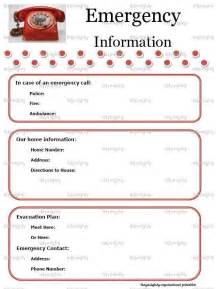 Emergency Phone Number List Template 7 Best Images Of Printable Emergency Contact List