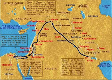 Journeys Out Of The abraham s journey map search biblical studies