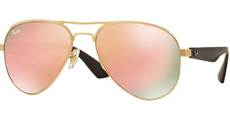 Frame Aviator Steel Pink ban metal aviator sunglasses with mirror lenses in
