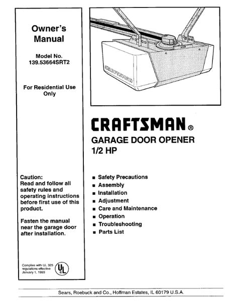 How To Reset Craftsman Garage Door Opener search craftsman craftsman garage door opener 2 user
