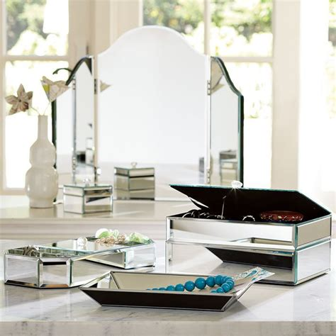 mirrored octagon box pottery barn the
